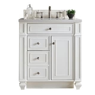 "Bristol 30"" Single Cottage White Vanity, with Top"