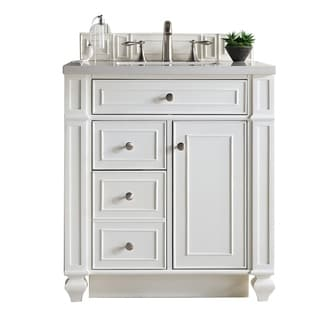 """Bristol 30"""" Single Cottage White Vanity, with Top"""