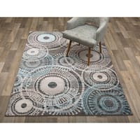 Modern Circles Brown Area Rug