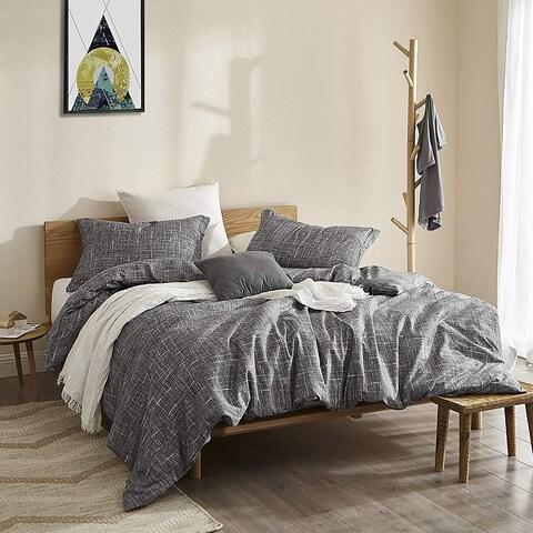 Gray Lightening - Oversized Duvet Cover - Supersoft Microfiber Bedding