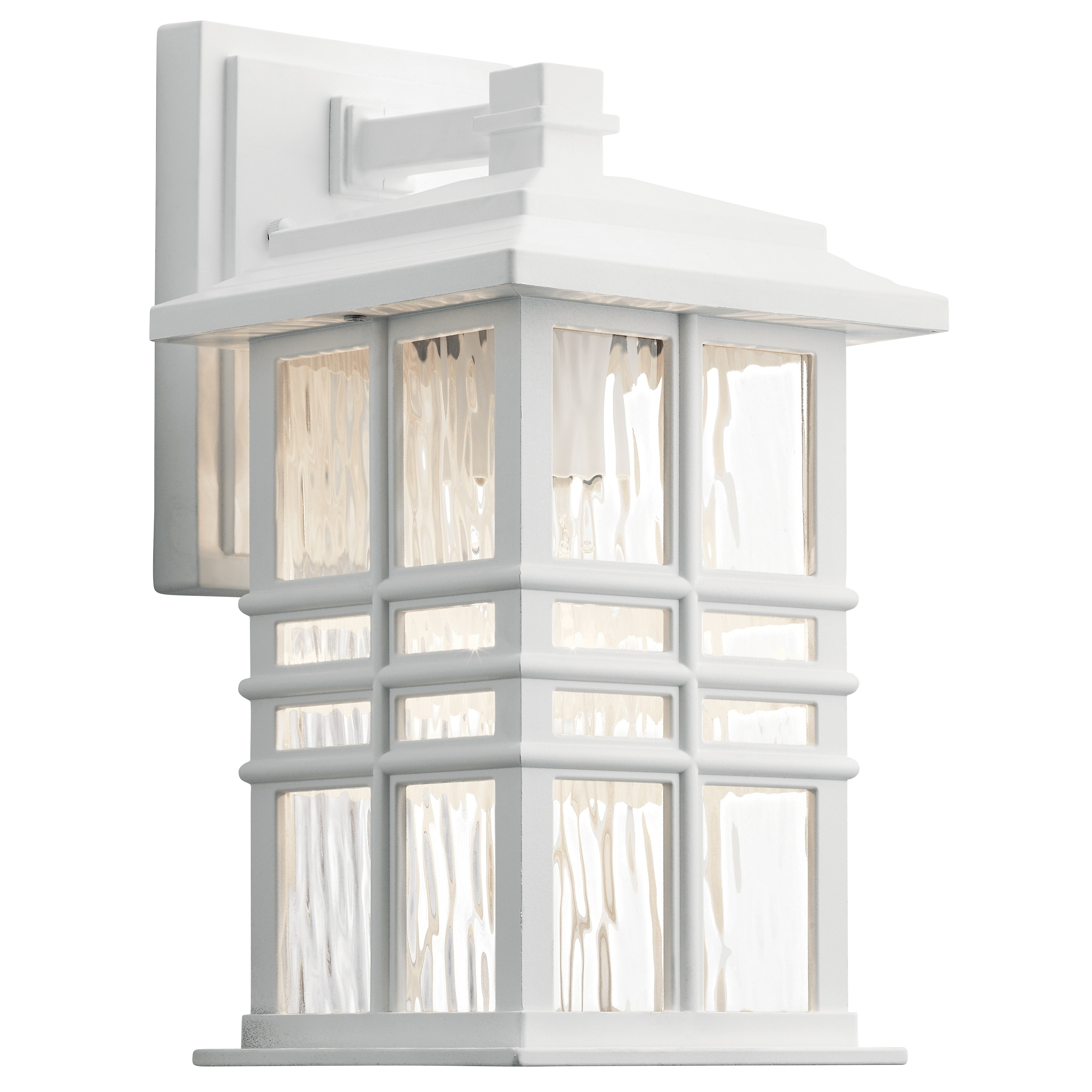 Shop Black Friday Deals On Kichler Beacon Square 1 Light White Outdoor Wall Sconce Overstock 27071831 12 X 6 5