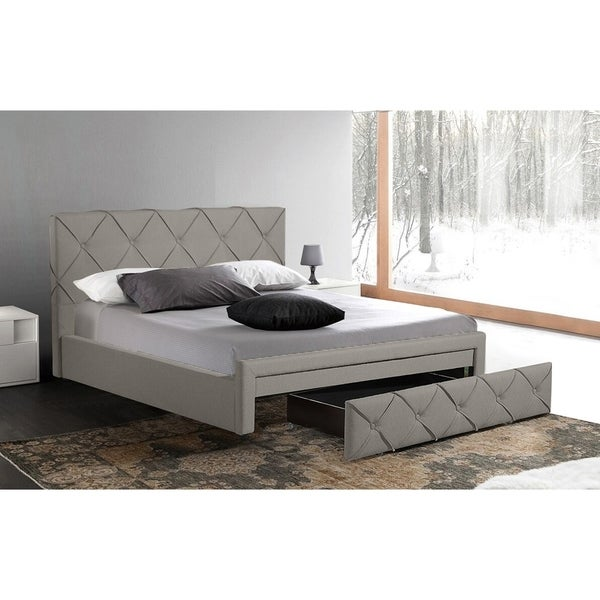 Shop Best Quality Furniture Fabric Upholstered Storage Bed