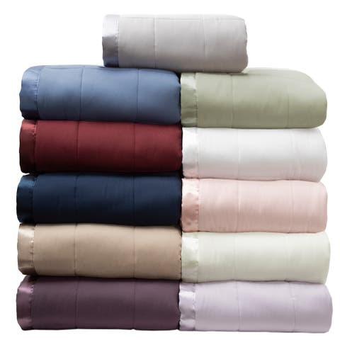 Porch & Den Roellich Solid Color Down Alternative Blankets