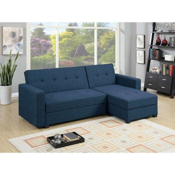 Shop Bromwich Sleeper Sectional  Navy Blue   Twin   Free ...