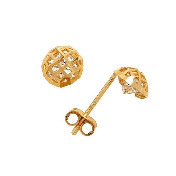 341d15b11 Shop Curata 14k Yellow Gold 4-8mm Peekabo CZ Ball Stud Earrings for women  and girls - On Sale - Free Shipping Today - Overstock - 27074478