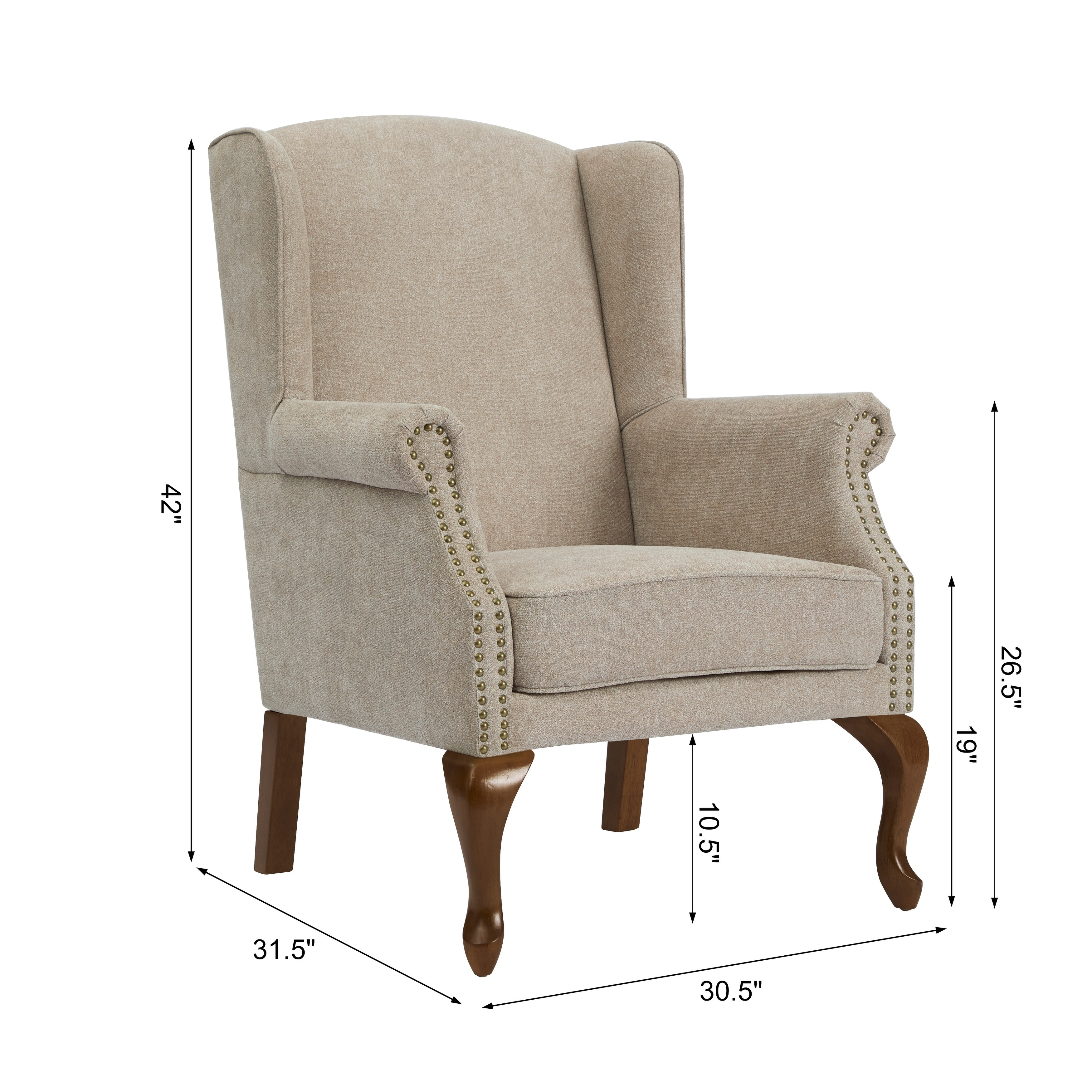 Attirant Levance Wingback Arm Chair By Greyson Living