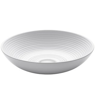 KRAUS 16.5-inch Viva Round White Ceramic Vessel Bathroom Sink