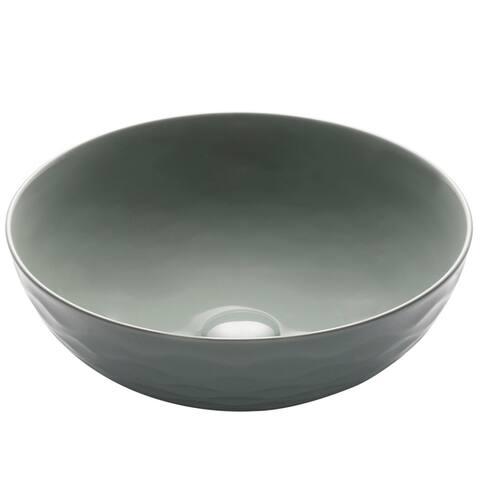 KRAUS Viva 16.5-inch Round Porcelain Ceramic Vessel Bathroom Sink