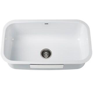 KRAUS KEU14White 31 1/2 in. Undermount Stainless Steel Kitchen Sink