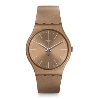 Swatch POWDERBAYANG Silicone Ladies Watch SUOM111