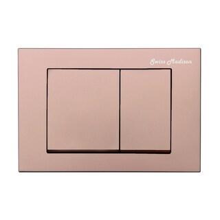 Swiss Madison Wall Mount Toilet Actuator Flush Push button Plate