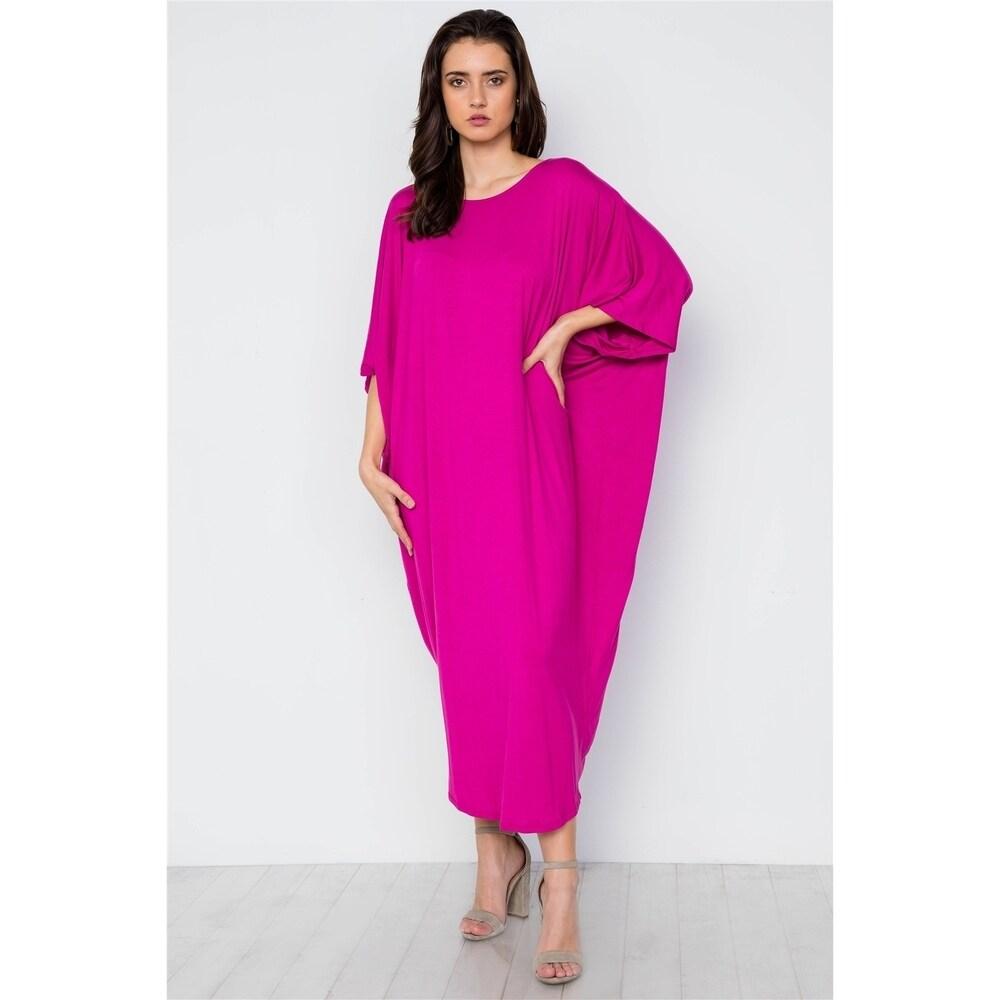 JED Womens Batwing Sleeve Drapey Resort Maxi Dress