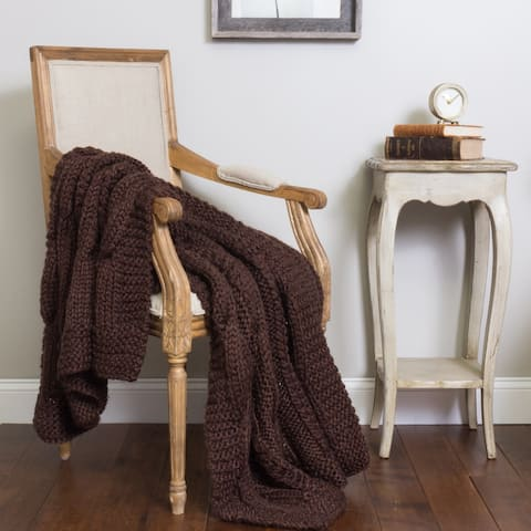 Cottage Home Rein Knit Throw Blanket