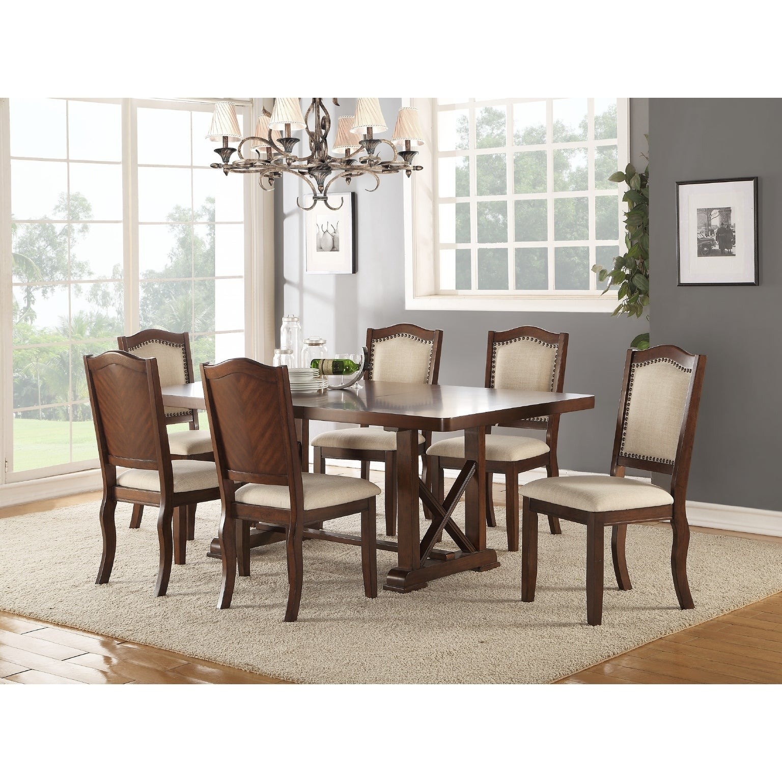 Chevaliers 7 Piece Dining Set Overstock 27078692