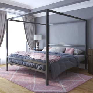Link to Avenue Greene Gia Metal Canopy King Bed Similar Items in Bedroom Furniture