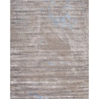 Pasargad Home Cosmo Collection Hand-Knotted Multi Silk/Wool Area Rug