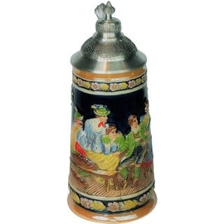 Elegance Ceramic Stein With Solid Pewter Steeple Lid