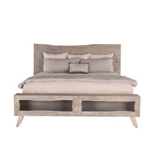 Nottingham Weathered Gray Acacia Wood Queen Bed