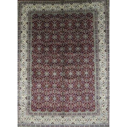 "Kerman Floral Hand Made Wool Persian Area Rug - 12'10"" x 9'8"""