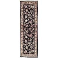 "Kashmar Floral & Botanical Hand Made Wool Persian Rug - 6'8"" x 2'1"" Runner"