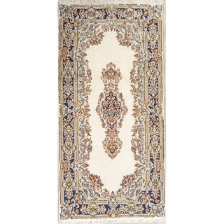 "Vintage Kerman Floral Hand Made Wool Persian Area Rug - 4'11"" x 2'5"""