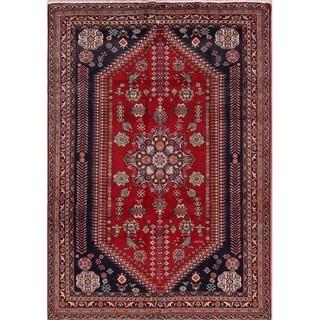 """Vintage Kashkoli Geometric Hand Made Wool Persian Area Rug - 9'1"""" x 6'6"""""""
