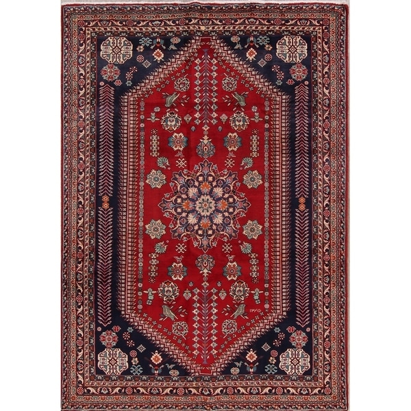 Shop Vintage Kashkoli Geometric Hand Made Wool Persian Area Rug 9