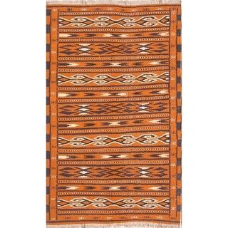 "Kilim Geometric Hand Woven Wool Persian Area Rug - 6'0"" x 3'8"""