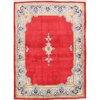 "Vintage Kerman Floral Hand Made Wool Persian Area Rug - 5'3"" x 4'0"""