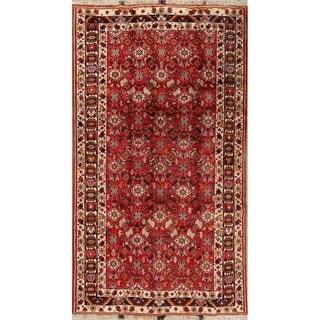 """Vintage Kashkoli Geometric Hand Made Wool Persian Area Rug - 8'11"""" x 4'11"""""""
