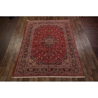 "Kashan Medallion Handmade Wool Persian Area Rug - 12'4"" x 8'9"""