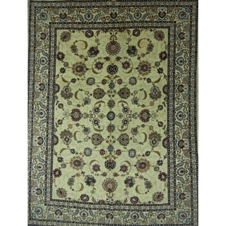 "Antique Kashan Oriental Handmade Wool Persian Area Rug - 12'1"" x 9'0"""