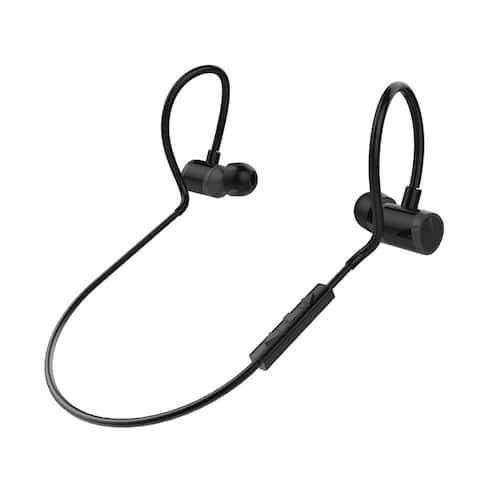 Pyle Wireless Bluetooth Earbuds - Waterproof Sports In-Ear Headphones with Microphone, Adjustable Volume - Black