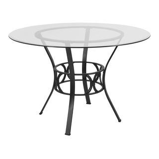 Lancaster Home Glass/Metal Dining Table