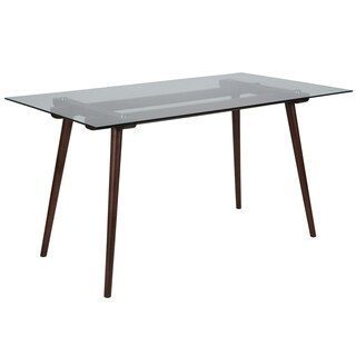 31.5x55 Wood Table, Glass Top
