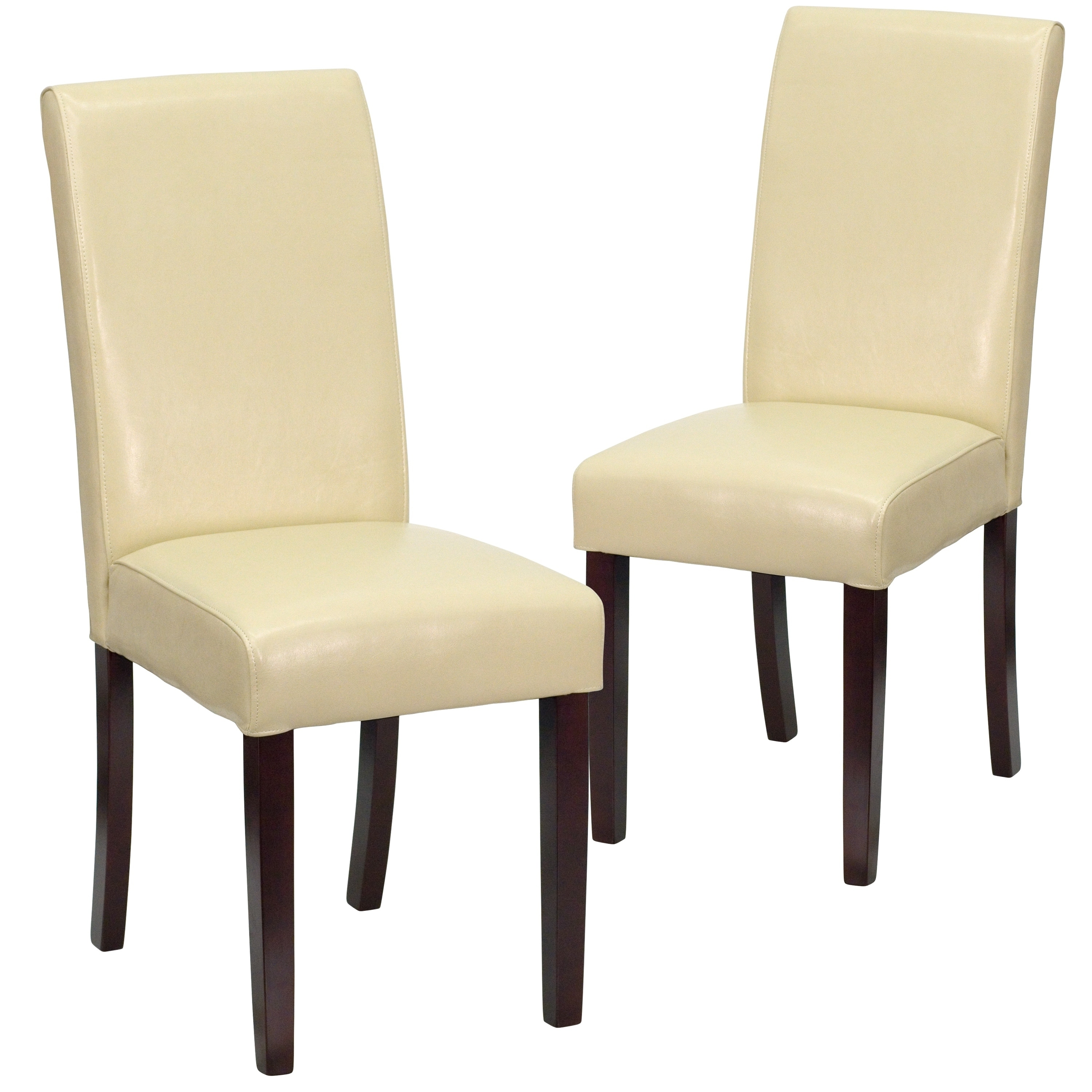 Leather Parsons Chair