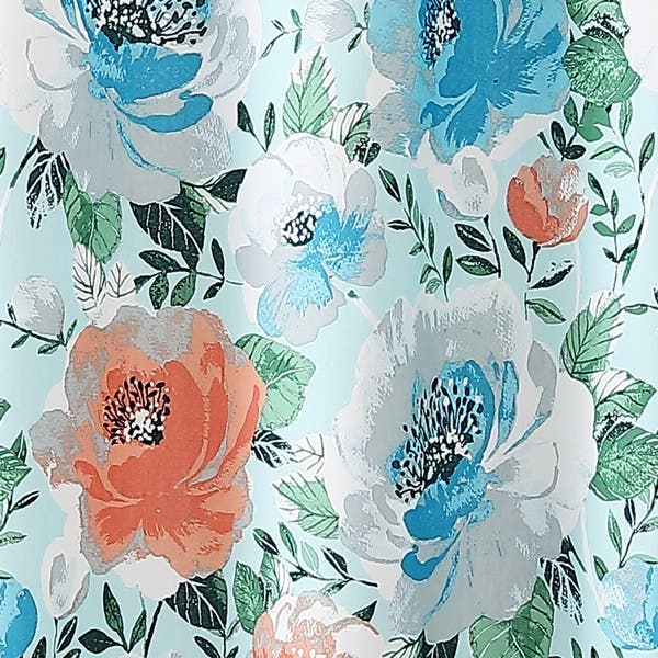 Shop Freshee Shower Curtain Mina Floral Free Shipping On Orders
