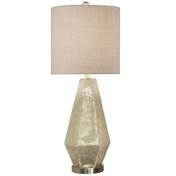 Shop Stylecraft Silver Crackled Mercury Glass Table Lamp