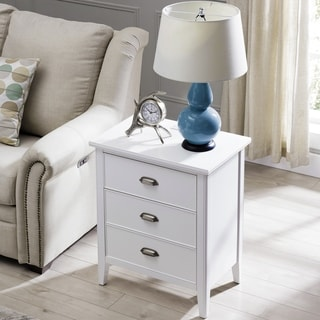 Night Stand w/Top Drawer, Door and 2-plug Electrical Outlet