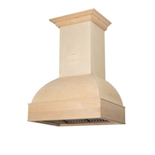ZLINE 36 in. Unfinished Wooden Wall Mount Range Hood - Includes  Remote Blower
