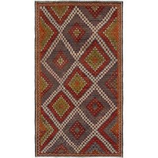 eCarpetGallery  Flat-weave Yoruk Red Wool Sumak - 6'0 x 11'1