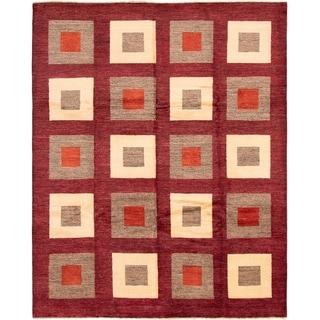 eCarpetGallery  Hand-Knotted Finest Ziegler Chobi Dark Red Wool Rug - 8'2 x 10'1