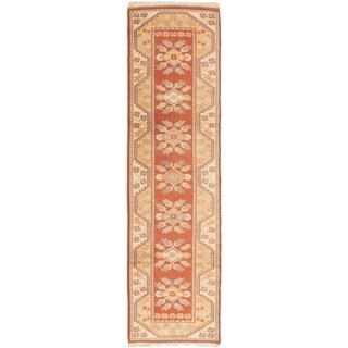 eCarpetGallery  Hand-Knotted Ushak Dark Copper Wool Rug - 2'7 x 10'0