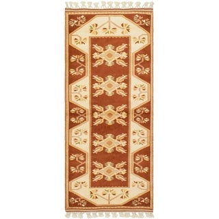eCarpetGallery  Hand-Knotted Ushak Dark Copper Wool Rug - 2'8 x 5'11