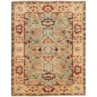 eCarpetGallery Hand-Knotted Ushak Light Blue Wool Rug - 6'9 x 8'7