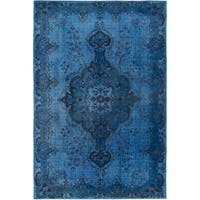 eCarpetGallery  Hand-Knotted Color Transition Blue Wool Rug - 6'7 x 9'10