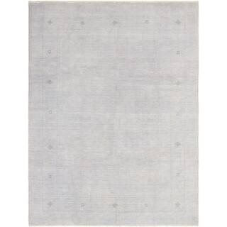 eCarpetGallery Hand-Knotted Kashkuli Gabbeh Light Grey Wool Rug - 9'2 x 11'10