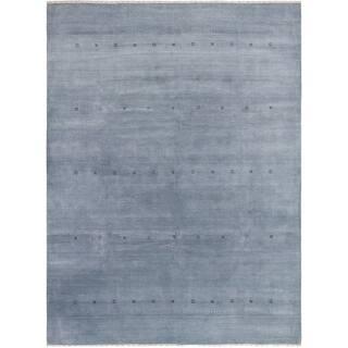 eCarpetGallery Hand-Knotted Kashkuli Gabbeh Light Denim Blue Wool Rug - 9'1 x 12'3