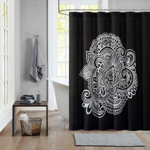 Lemon & Spice Dylan Printed 72 x 72 Shower Curtain