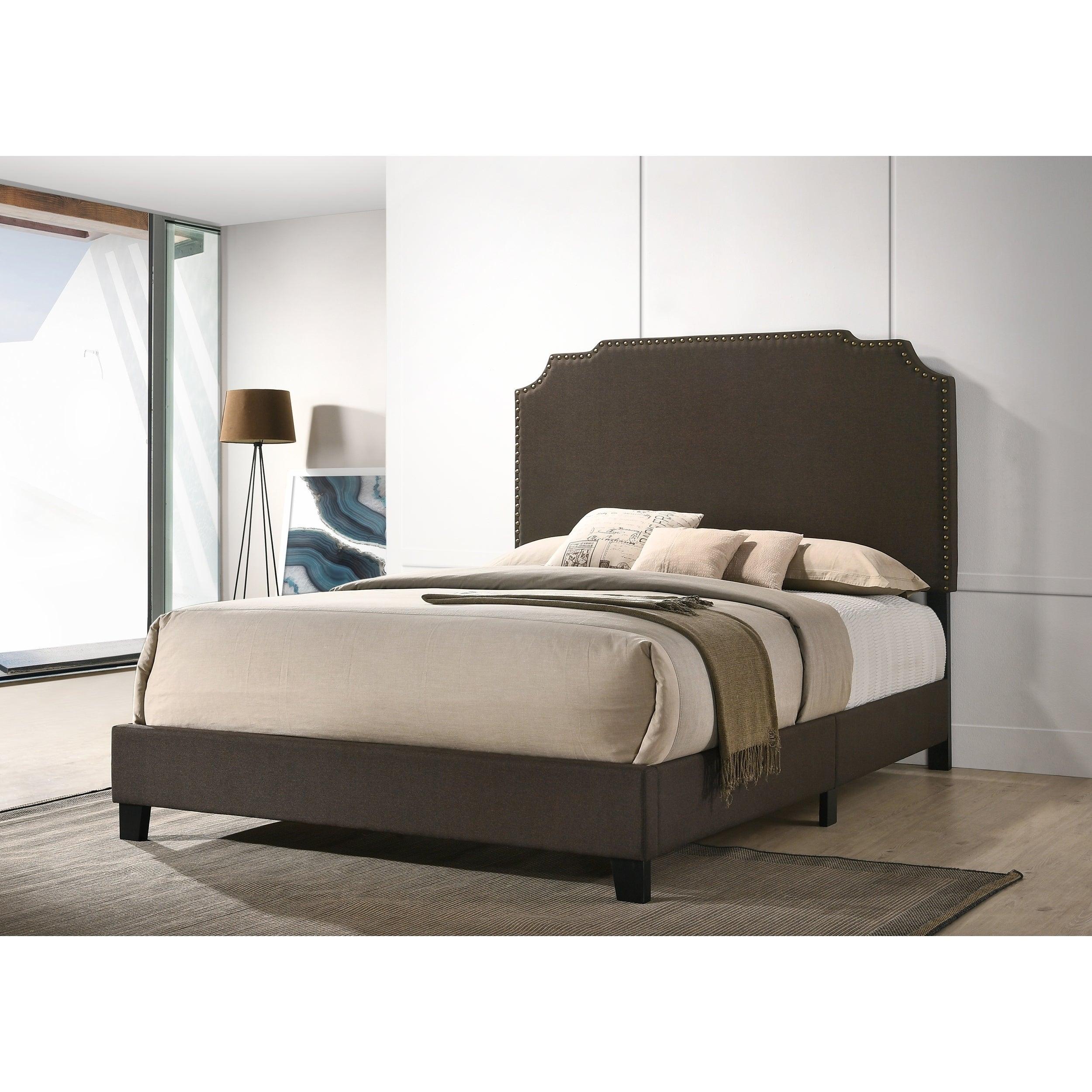 Lexi Beluga King Upholstered Platform Bed On Sale Overstock 27088511